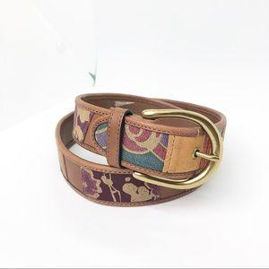 Fossil Floral Patchwork belt (M)